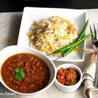 Rajma Curry with Fragrant Pulao Rice