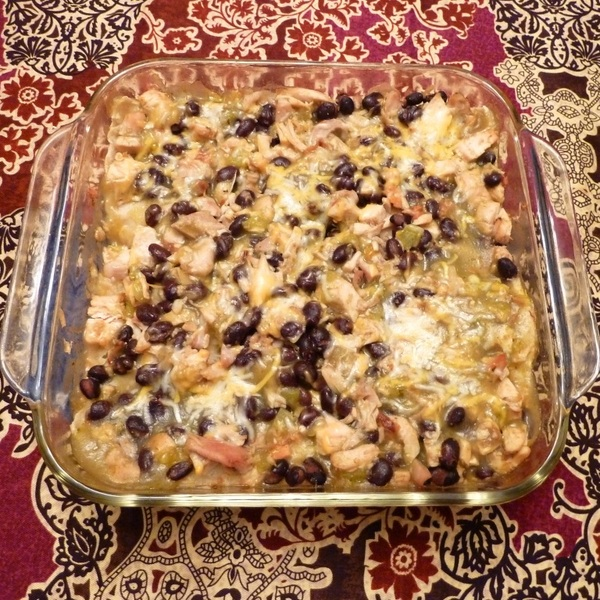 Chicken and Black Bean Enchilada Casserole Recipe by Nancy ...