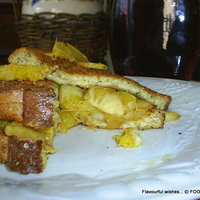 baked FRENCH TOAST stuffed with spirited FRUITS