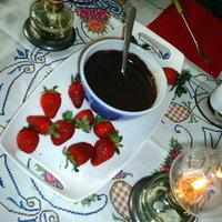Yogurt creamy CHOCOLATE fondue dip...just 4 ingredients!