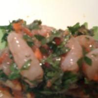 Sweet Shrimp Ceviche with Shrimp Eggs