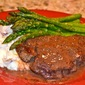 Filet Mignon with a Cabernet Cream Sauce