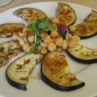 Aubergine and Chickpea Salad