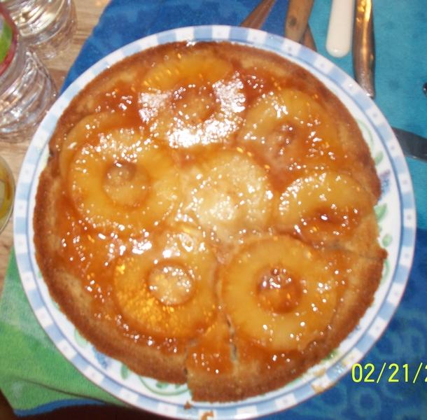 Pineapple upside downcake (off of Vegweb.com)
