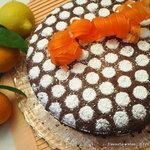Citrus Chocolate Coconut Ginger Nut flourless torte cake