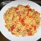 Arroz con chorizo, pimientos y garbanzos - Rice with chorizo, red peppers & chickpeas