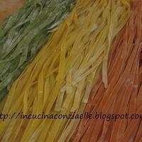 Fettuccine tricolore