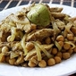 Curry Chick Peas with Chicken