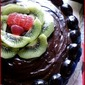 NIGELLA'S CHOCOLATE FUDGE CAKE TOPPED WITH FRUIT