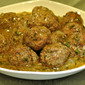 Moroccan Meatballs with Preserved Lemon; the tiles