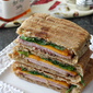 Toasted Panini with Ham, Cheddar & Pepper Jelly Recipe