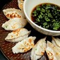 Fried Shrimp Dumplings and Asian Dipping Sauce