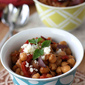 Crockpot Chickpea Stew Recipe with Balsamic Caramelized Onions