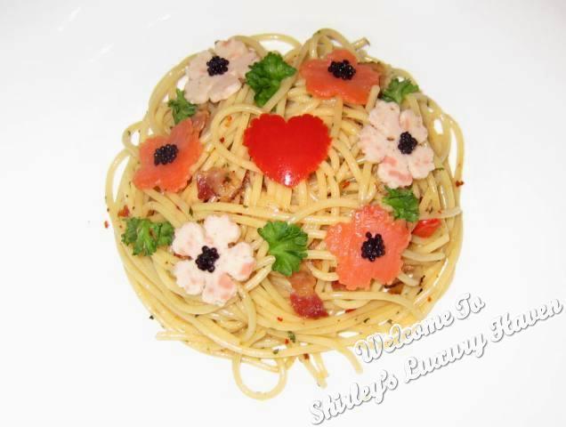 Flower Garden Aglio OIio With Caviar