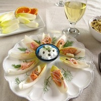 Chardonnay Poached Salmon with Fennel and Orange