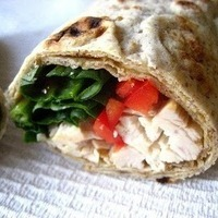 Peanut Butter Chicken Wraps