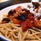 Whole Wheat Spaghetti with Kalamata Olives & Capers