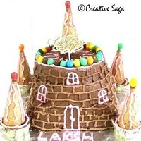 Castle cake - Kid's easy birthday cake