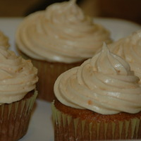 Pumpkin Cupcakes with Orange Spiced Cream Cheese Frosting