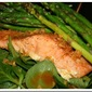 Baked Salmon with Fresh Baby Spinach