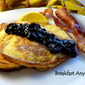 Ricotta Pancakes with Homemade Blueberry Syrup