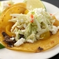 black bean tacos with feta and cabbage slaw