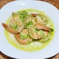 Shrimp in Green Garlic Sauce