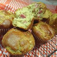Cheese Ham CHICKPEA yogurt MUFFINs Gluten-Free or not
