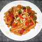 Pasta with Roasted Mixed Veggies