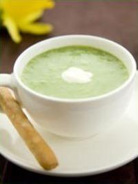 Asparagus Soup with Lemon Creme Fraiche Recipe