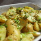 Warm Potato Salad with a Green Olive Dressingsa