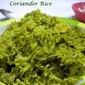 Kothamalli / Coriander Leaves Biryani