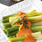 Braised Leeks with Red Pepper Cream Cheese Sauce & Capers Recipe