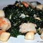 Kale, Shrimp and Scallop Stir Fry