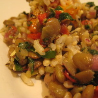 Curried lentil and rice salad