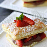Strawberry & Chocolate Cream Cheese Napoleon Recipe
