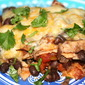 Blackbean and Mushroom Tortilla Casserole