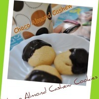 Choco Almond Cashew Secret Center Crumbly Cookies