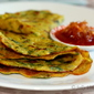 Coriander and Onion Chilla/Puda
