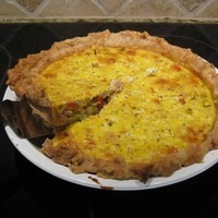 Herbed Spring Goat Cheese Quiche