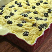 Best Blueberry Bread Pudding with Lemoncello Sauce