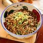 Lentil salad with olivada