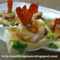Steam Tofu with Prawns