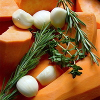 Garlic Herbed Sweet Potatoes