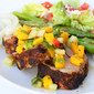 Chili Espresso Pork Tenderloin with Mango Cucumber Salsa