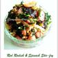 Red Radish & Spinach Stir-fry