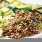 Musroom Broccoli Quisotto (Quinoa!) and Egg White Omelette with Avocado