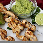 Chicken Skewers with Avocado Sauce