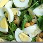 Warm Spiced Chickpea Arugula Salad