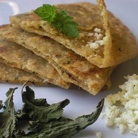 Minty Cottage Cheese & Spicy Garlic Indian Flat Breads